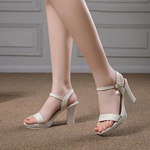Zapatos Sandalias Bajos Sandalias Zapatos Verano se heelsWomen LI BAJIAN oras Peep Alto Toe Chanclas x8H007