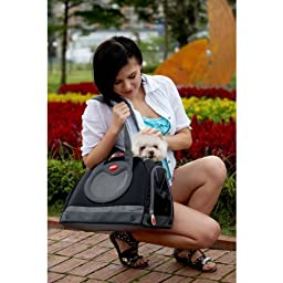 Argo by Teafco Petaboard Style B Airline Approved Pet Carrier, Black, Medium