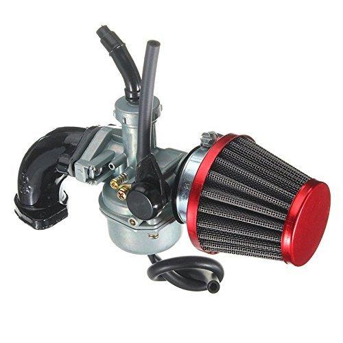 ORIPO Carburetor & Intake Manifold Boot Red Air Filter For Honda CRF70 XR70R (Honda Crf 70 Carburetor)
