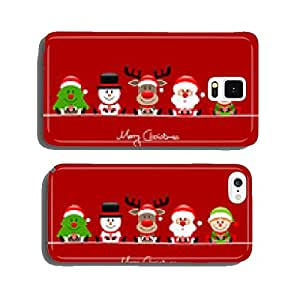 Tree, Snowman, Rudolph, Santa & Elf Red cell phone cover case iPhone6 Plus