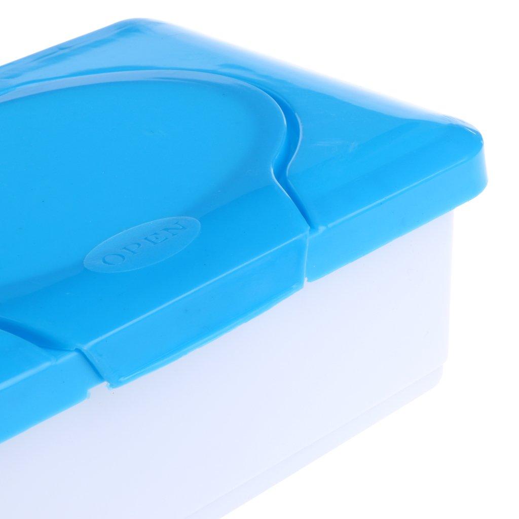 LLLucky Bo/îte De Rangement en Papier Tissu Mouill/é /Étui /À Lingettes Titulaire Boucle Couvercle Lingettes Porte-Serviette Conteneur Bleu