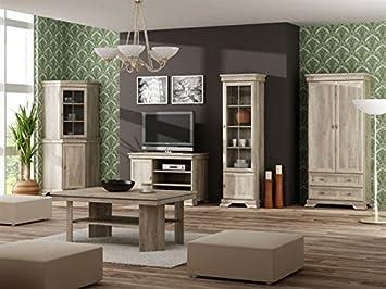 Wohnzimmer Komplett Set B Sentis 6 Teilig Farbe Eiche Braun