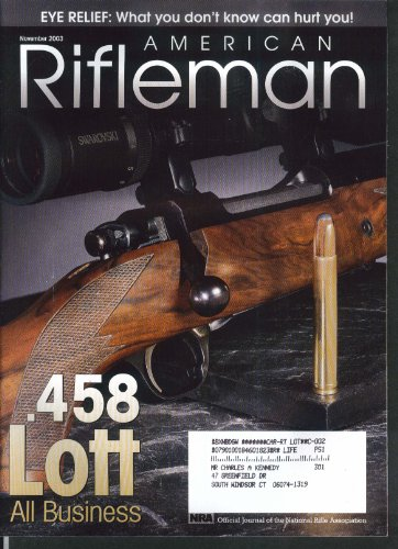 AMERICAN RIFLEMAN 458 Lott Short Magazine Lee-Enfield Remington 11 - Shorts Enfield