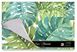 Cala Home 24-Pack Disposable Paper Placemats, Tropical Green