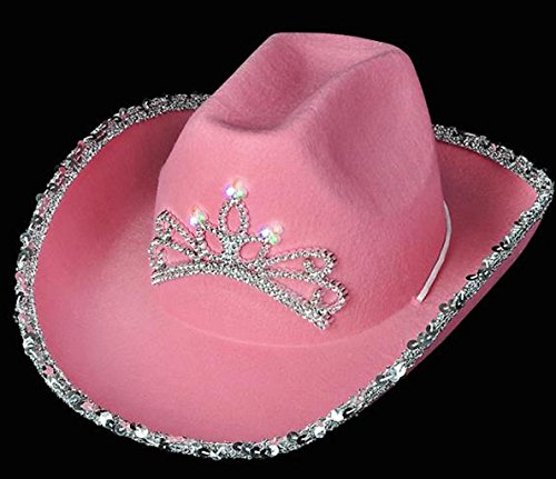 Pink Blinking Cowgirl Hat  - Child's Model