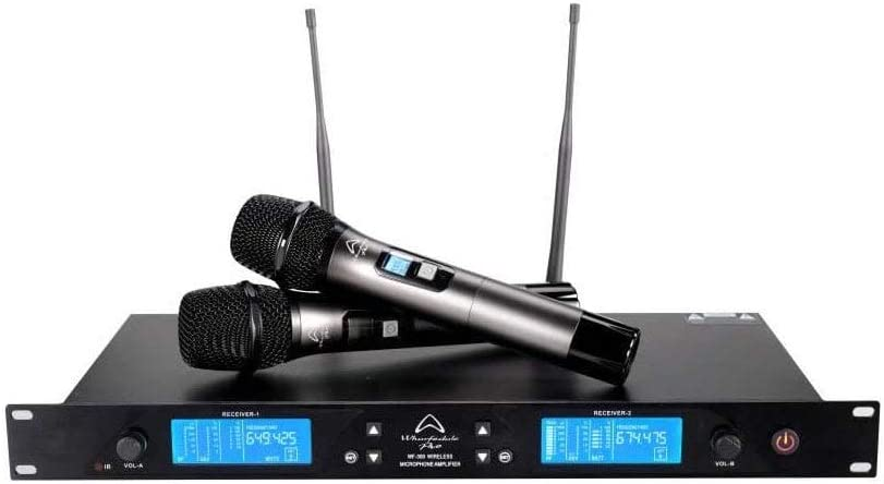 Wharfedale Pro WF-300 Rack Mountable Wireless Dual Microphone System with EQ