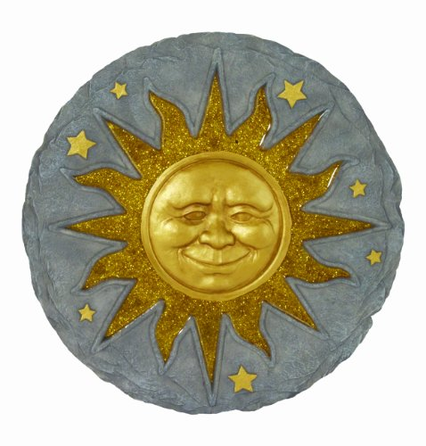 Sun Face Wall Decor - Spoontiques Stepping Stone, Sun Face