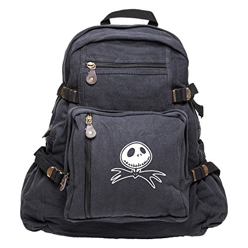 Jack Bat Canvas Backpack Bag