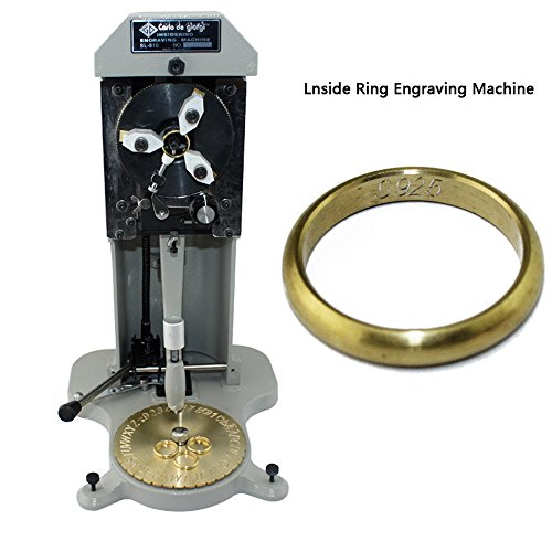 Uttiny Inside Ring Engraver Stamper with Two Faces Standard Letter Block Dial Jewelry Making Engraving ()