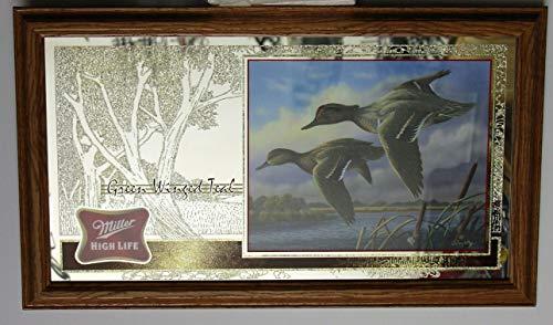 - miller high life beer Mirror Green Winged Teal Duck 3rd Series by Terry Daughty Miller Wildlife Series