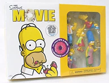 The Simpsons Movie Full Screen Dvd 2 Pack With Exclusive Family Figurines Amazon Co Uk Dvd Blu Ray