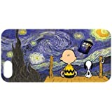 Every New Day Popular Peanuts Snoopy The Starry Night Doctor Who Tardis Unique Custom IPHONE 5 or 5S Best Durable PVC Case