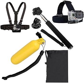 Chest Belt YKD-101 5 in 1 Monopod Tripod Mount Adapter Float Bobber Handheld Stick Head Strap Bag for GoPro HERO4 //3+ //3//2 //1 //SJ4000 Durable