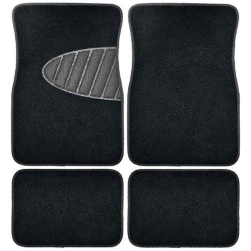Armor All 78890 4-Piece Black All Season Carpet /& Rubber Floor Mat