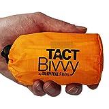 emergency space sleeping bag - TACT Bivvy Emergency Survival Sleeping Bag - Lightweight, Waterproof Bivy Sack Emergency Blanket with HeatEcho Thermal Blanket Material & Nylon Bag, Use in Survival Kit, Camping Gear & Survival Gear