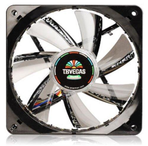 Quad Blue Led 120mm Fan - Enermax T.B.Vegas Quad APS 120mm LED Case Fan Cooling, Black UCTVQ12P