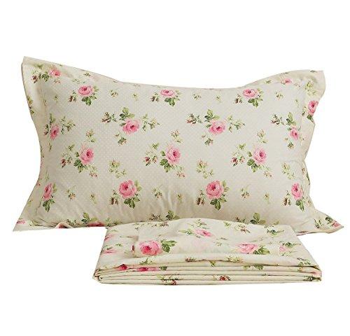 Abreeze Rosette Print Bed Sheet Set Cotton Sheets Full Size, Cheap Bedroom Sets