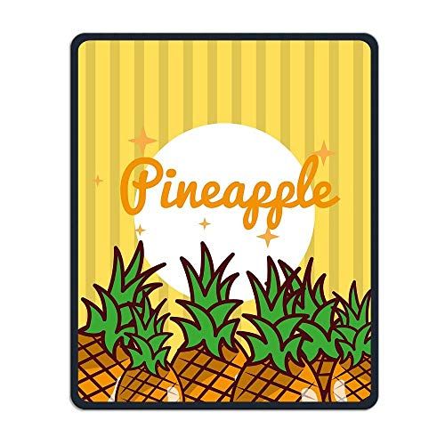 Striped Bright Fresh Natural Fruits Personality Mouse Pads with Design,with Stitched Edges,Non Slip Rubber Game Mouse Mat