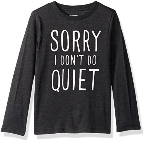 The Children's Place Baby Boys' Quiet Graphic Tee