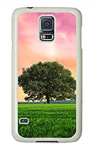 Green Grassland White Hard Case Cover Skin For Samsung Galaxy S5 I9600