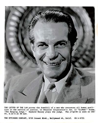 Vintage Photos 1956 Photo Actor Raymond Massey Canadian American Academy Award Nominee 8X10