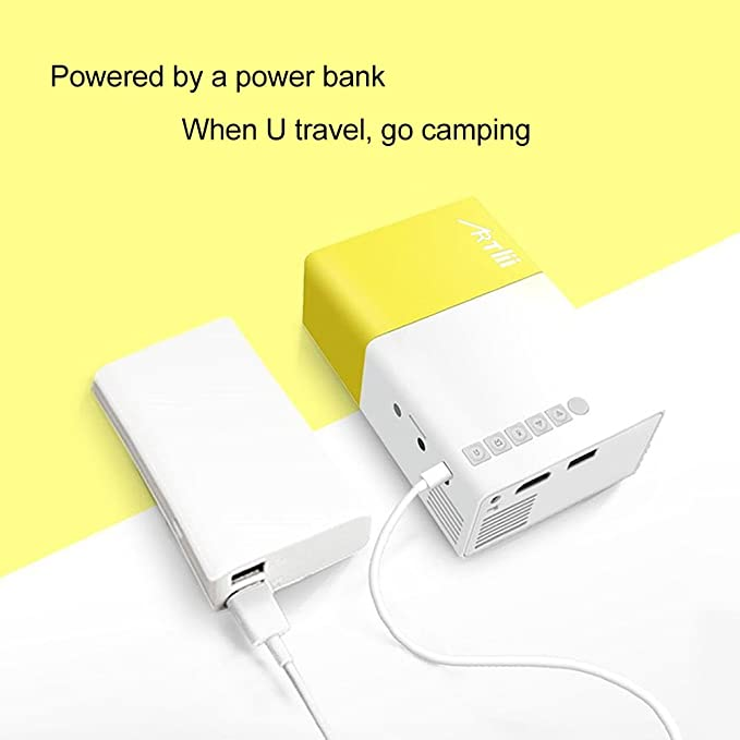 Amazon.com: Pico Projector - Artlii 2019 New Pocket Projector,Mini Projector Compatible with Laptop,iPhone Smartphone,Movie Projector for Kid Gift,Cartoon: ...