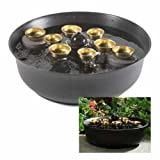 Woodstock Black Water Bell Fountain- Encore Collection