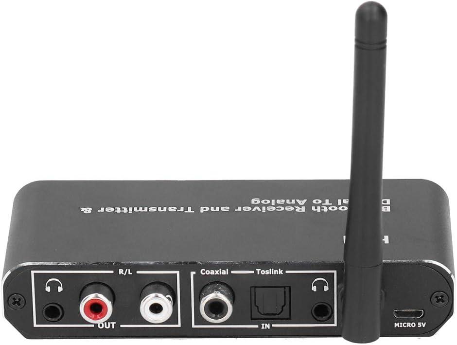 Convertidor de audio digital a analógico Transmisor receptor de audio Bluetooth5.0 - Entrada coaxial de fibra AVX / Salida RCA AVX para televisores, consolas de juegos, reproductores de discos compact