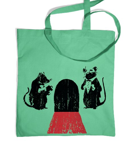 Banksy Red Carpet Rats Tote Bag - Mint One Size Tote (Rat Bag)