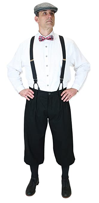 1920s Men's Pants History: Oxford Bags, Plus Four Knickers, Overalls Cotton Blend Knickers $64.95 AT vintagedancer.com