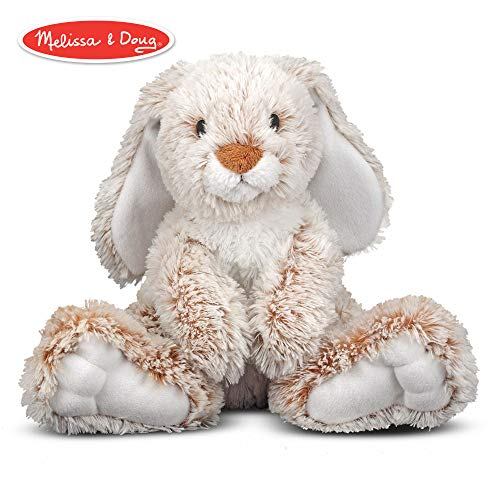 Soft Stuffed Animals (Melissa & Doug Burrow Bunny Rabbit Stuffed Animal (Washable Surface, Soft Fabric , 9