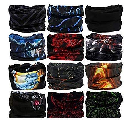 Generic Unisex Head Wrap Bandana (Multicolour, Free Size) – Pack of 6
