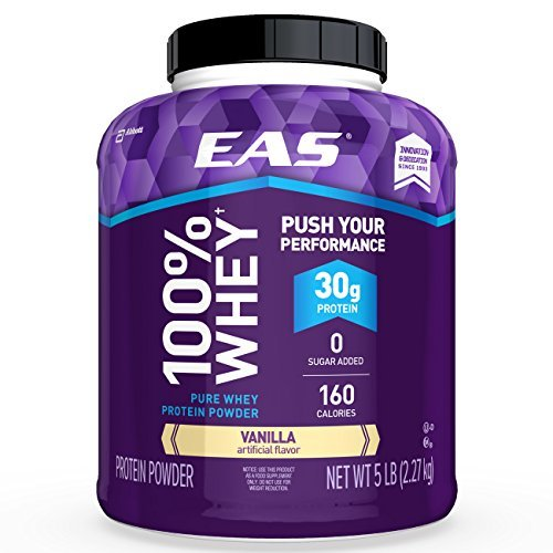 Myoplex Whey Protein - EAS 100% Pure Whey Protein Powder, Vanilla, 5 LB, 30 Grams of Whey Protein Per Serving (Packaging May Vary)
