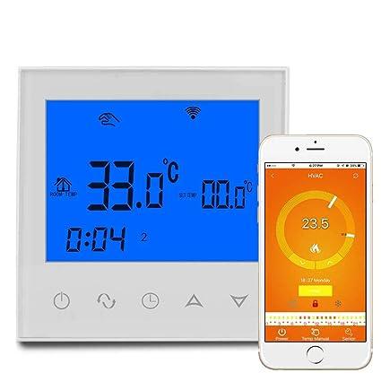 Eleganantamazing WiFi - Termostato con Control táctil para habitación (LCD, termostato Especial)