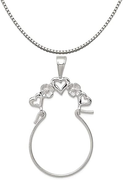 16-20 Mireval Sterling Silver Love Small Charm on a Sterling Silver Chain Necklace