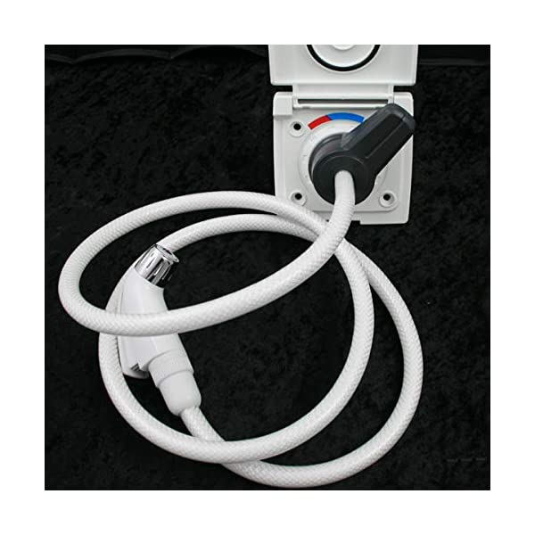 51TfLpsnhhL Wasser Außensteckdose Außendusche Versorgungsklappe Wohnmobil Wohnwagen Dusche Mischbatterie weiß