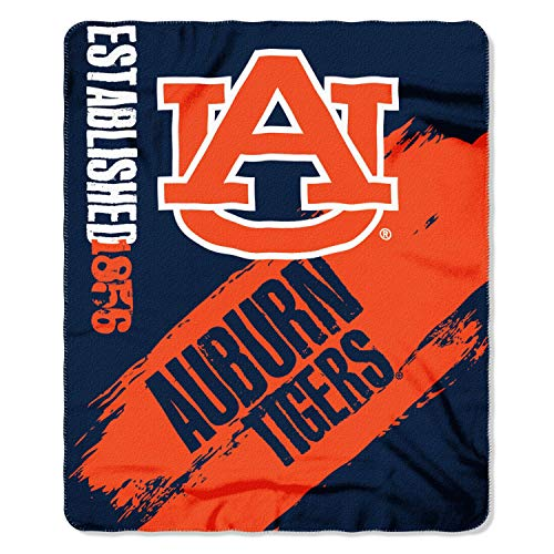 Officially Licensed NCAA Auburn Tigers Painted Printed Fleece Throw Blanket, 50