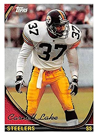 9a82ddc53e4 1994 Topps Football Card  121 Carnell Lake Pittsburgh Steelers Official NFL  Trading Card