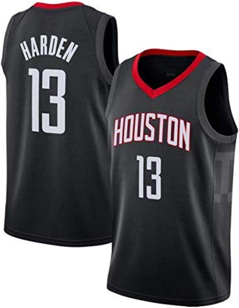 LCY Camiseta de Baloncesto de los Hombres Rockets NBA Jersey # 13 James Harden Uniformes sin Mangas Transpirable Fitness Deportivo Camisetas Aficionados al Baloncesto