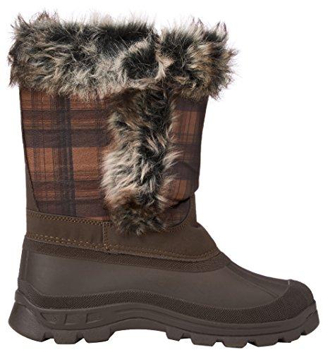 Trespass Brace - Botas de nieve para mujer marrón (Earth)