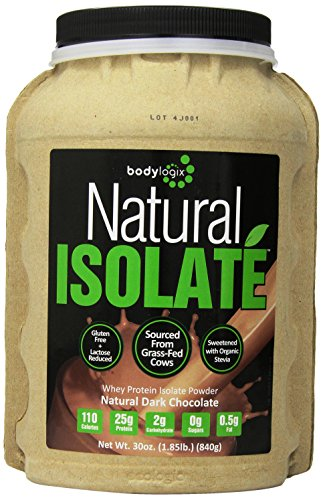Bodylogix Natural Whey Nutrition protéiné, isolat chocolat noir, 1,85 livre