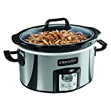 Crock-Pot SCCPVC400P-033 Oval Programmable Slow Cooker, 4 Quart, Stainless