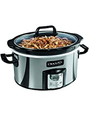 Crock-Pot SCCPVC400P-033 Oval Programmable Slow Cooker, 4 Quart, Stainless