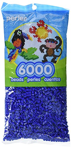 - Perler Beads Fuse Beads for Crafts, 6000pcs, Dark Blue