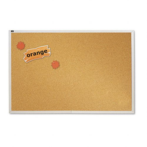 (Natural Cork Bulletin Board, 72 x 48, Anodized Aluminum Frame, Sold as 1 Each)