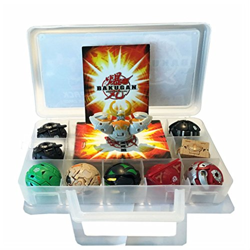 Child Gift Battle Brawlers 9 pcs & 9 Cards WIth Nice Case