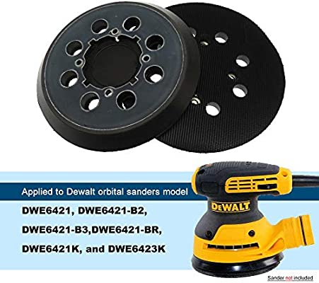 5 Hook-/&-Loop Replacement Sander Pad for DeWalt DWE6423//6423K DCW210B Random Orbital Sander Direct Replacemnrt for Pad Part Number DWE64233 /& N329079 DWE6421//6421K