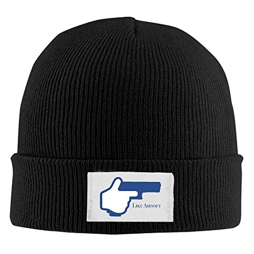 Hallome Adult Hats Like Airsoft Men Women Wool Cap Cool Beanies Knitted Caps Warm Winter Hats (Nike Beanie Wool)