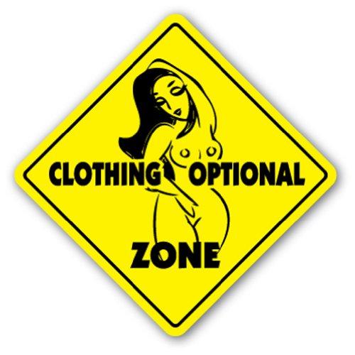 CLOTHING OPTIONAL ZONE novelty supplies product image