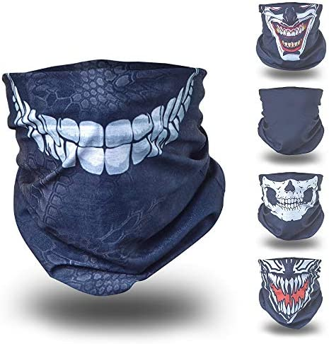 BlackNugget ® Bedrucktes Multifunktionstuch mit ausgefallenem Design - Hochwertige Sturmhaube als Wärm- und Schutztuch - Halstuch, Face Shield, Gesichtsmaske - Verschiedene Muster